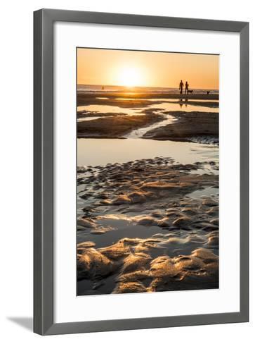 California, Carpinteria, Santa Barbara Channel, Beach at Low Tide-Alison Jones-Framed Art Print