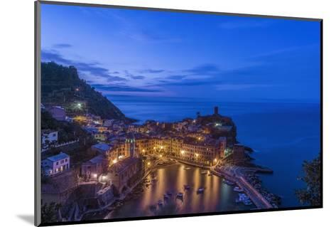 Italy, Cinque Terre, Vernazza at Dawn-Rob Tilley-Mounted Photographic Print