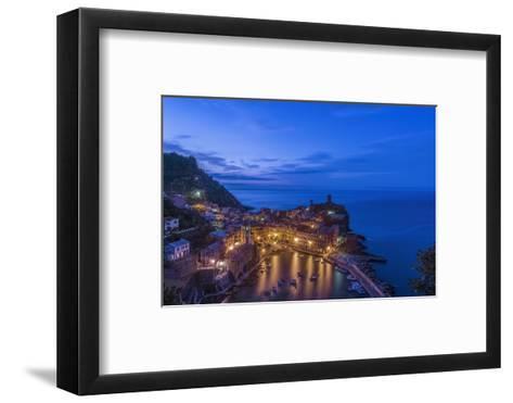 Italy, Cinque Terre, Vernazza at Dawn-Rob Tilley-Framed Art Print