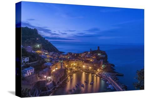 Italy, Cinque Terre, Vernazza at Dawn-Rob Tilley-Stretched Canvas Print