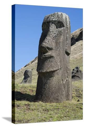 Chile, Easter Island. Rapa Nui NP, Historic Site of Rano Raraku-Cindy Miller Hopkins-Stretched Canvas Print