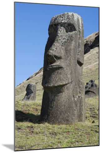 Chile, Easter Island. Rapa Nui NP, Historic Site of Rano Raraku-Cindy Miller Hopkins-Mounted Photographic Print