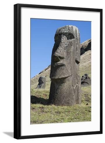 Chile, Easter Island. Rapa Nui NP, Historic Site of Rano Raraku-Cindy Miller Hopkins-Framed Art Print