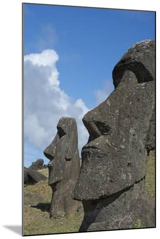 Chile, Easter Island. Rapa Nui NP, Historic Site of Rano Raraku. Moi-Cindy Miller Hopkins-Mounted Photographic Print