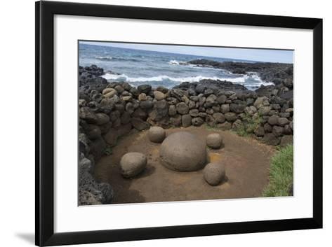 Chile, Easter Island. Te Pito Kura. Stone Called Navel of the Earth-Cindy Miller Hopkins-Framed Art Print