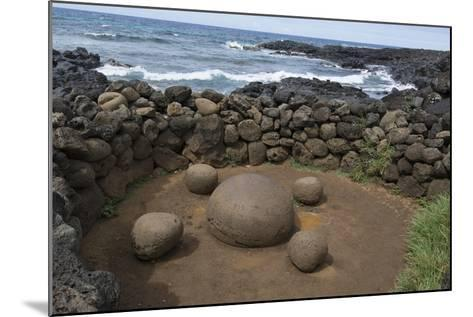 Chile, Easter Island. Te Pito Kura. Stone Called Navel of the Earth-Cindy Miller Hopkins-Mounted Photographic Print