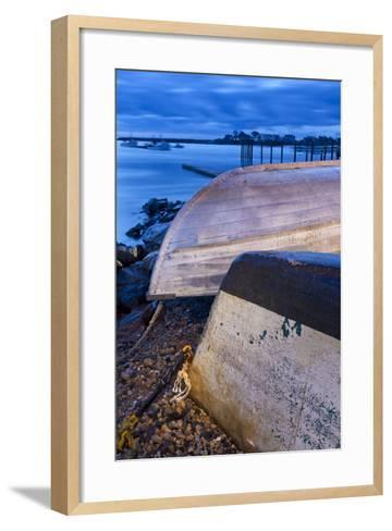 Skiffs in Rye Harbor, New Hampshire-Jerry & Marcy Monkman-Framed Art Print