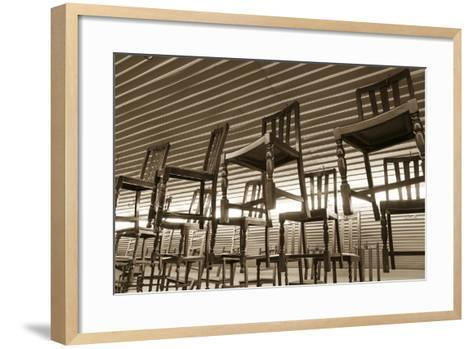 Hanging Chairs, Wilmington, Illinois, USA. Route 66-Julien McRoberts-Framed Art Print