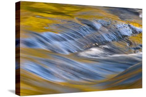 USA, New York, Adirondack Mountains. Flowing Water on Raquette Lake-Jay O'brien-Stretched Canvas Print