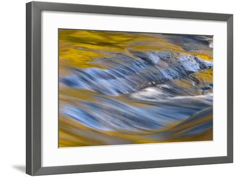 USA, New York, Adirondack Mountains. Flowing Water on Raquette Lake-Jay O'brien-Framed Art Print