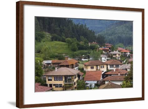 Bulgaria, Central Mountains, Koprivshtitsa, Elevated Village View-Walter Bibikow-Framed Art Print