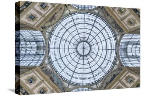 Italy, Milan, Galleria Vittorio Emanuele II Ceiling-Rob Tilley-Stretched Canvas Print