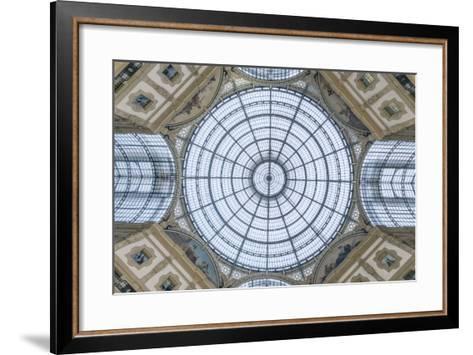 Italy, Milan, Galleria Vittorio Emanuele II Ceiling-Rob Tilley-Framed Art Print