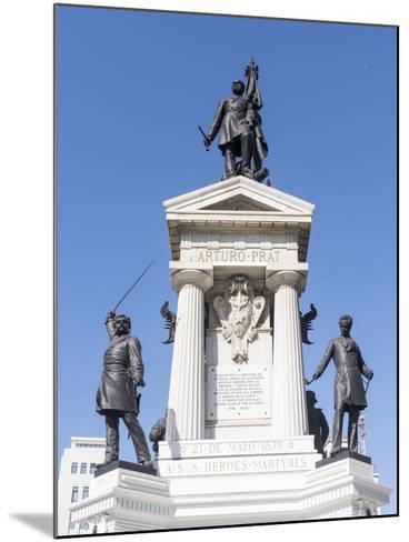 Los Heroes de Iquique Monument. Valparaiso, Chile-Martin Zwick-Mounted Photographic Print