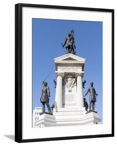 Los Heroes de Iquique Monument. Valparaiso, Chile-Martin Zwick-Framed Art Print