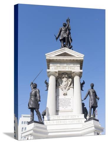 Los Heroes de Iquique Monument. Valparaiso, Chile-Martin Zwick-Stretched Canvas Print