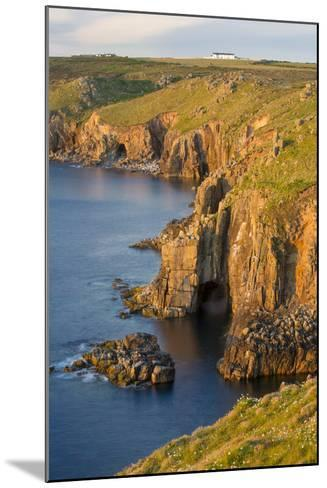 Sunset over the Cliffs Near Lands End, Cornwall, England-Brian Jannsen-Mounted Photographic Print