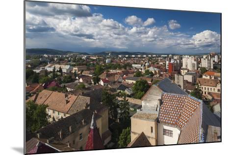 Romania, Transylvania, Targu Mures, Elevated City View-Walter Bibikow-Mounted Photographic Print