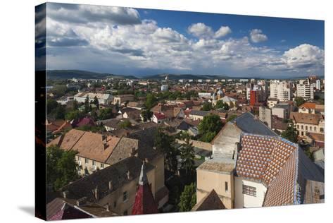 Romania, Transylvania, Targu Mures, Elevated City View-Walter Bibikow-Stretched Canvas Print