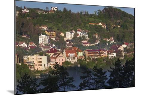 Romania, Transylvania, Brasov, Town Buildings in Fog, Dawn-Walter Bibikow-Mounted Photographic Print