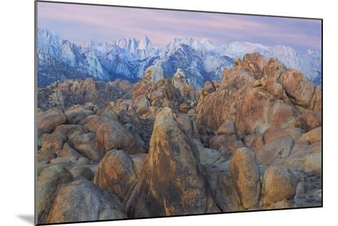 USA, California, Alabama Hills. View of Mount Whitney-Don Paulson-Mounted Photographic Print