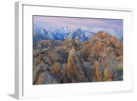 USA, California, Alabama Hills. View of Mount Whitney-Don Paulson-Framed Art Print