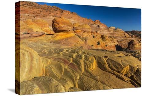 Sandstone Above the Wave, Vermillion Cliffs Wilderness, Arizona-Chuck Haney-Stretched Canvas Print