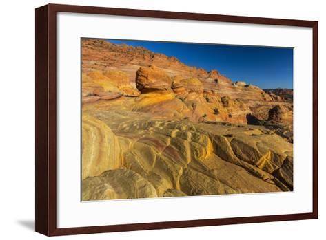 Sandstone Above the Wave, Vermillion Cliffs Wilderness, Arizona-Chuck Haney-Framed Art Print