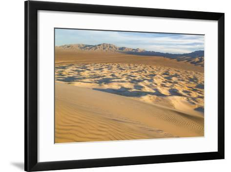 USA, California, Mohave National Preserve. View from Kelso Dunes-Don Paulson-Framed Art Print