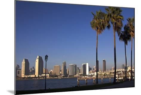 USA, California, San Diego. San Diego Skyline and Palm Trees-Kymri Wilt-Mounted Photographic Print