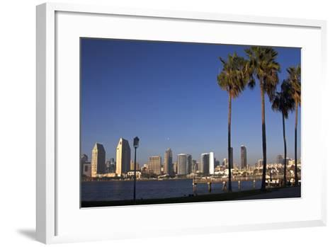 USA, California, San Diego. San Diego Skyline and Palm Trees-Kymri Wilt-Framed Art Print