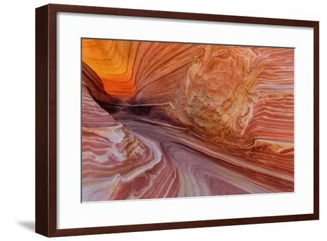Sandstone at the Wave in the Vermillion Cliffs Wilderness, Arizona-Chuck Haney-Framed Art Print
