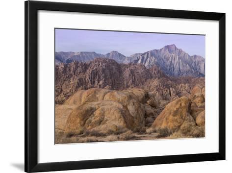 California, Alabama Hills. View of Lone Pine Peak and Mount Whitney-Don Paulson-Framed Art Print