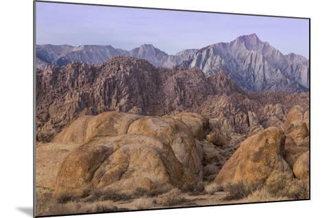 California, Alabama Hills. View of Lone Pine Peak and Mount Whitney-Don Paulson-Mounted Photographic Print