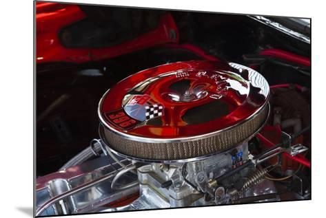 USA, Georgia, Savannah, Engine of a Car in Car Show-Joanne Wells-Mounted Photographic Print