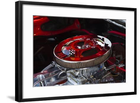 USA, Georgia, Savannah, Engine of a Car in Car Show-Joanne Wells-Framed Art Print