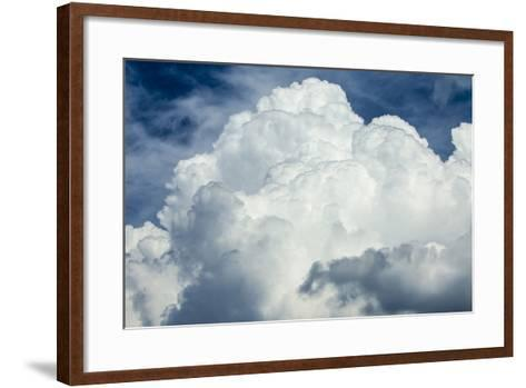 Cumulus Clouds Towering over the Sierra Nevada Mountains-Michael Qualls-Framed Art Print