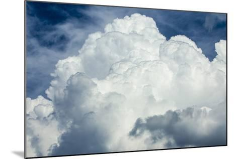 Cumulus Clouds Towering over the Sierra Nevada Mountains-Michael Qualls-Mounted Photographic Print
