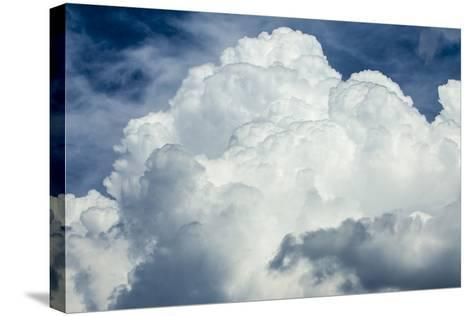 Cumulus Clouds Towering over the Sierra Nevada Mountains-Michael Qualls-Stretched Canvas Print