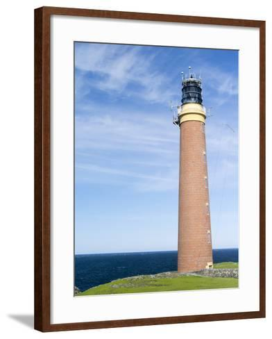 Isle of Lewis, Coast and Lighthouse at the Butt of Lewis. Scotland-Martin Zwick-Framed Art Print