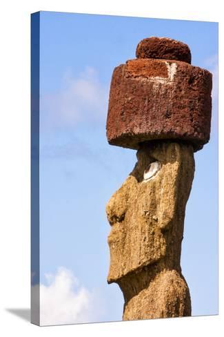 Rapa Nui National Park, Easter Island. Moai Statue-Janet Muir-Stretched Canvas Print