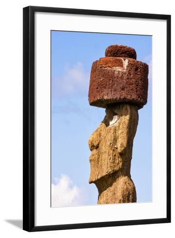 Rapa Nui National Park, Easter Island. Moai Statue-Janet Muir-Framed Art Print