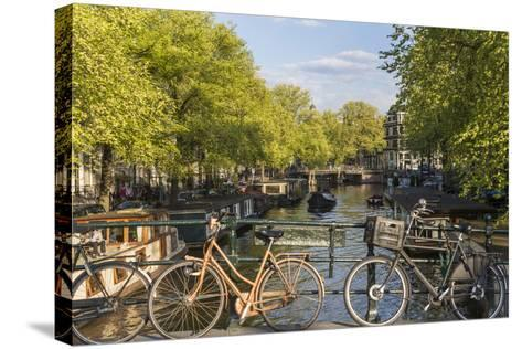 Canal, Amsterdam, Holland, Netherlands-Peter Adams-Stretched Canvas Print
