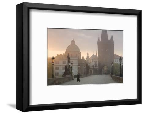 Charles Bridge at Dawn, Prague, Czech Republic-Peter Adams-Framed Art Print