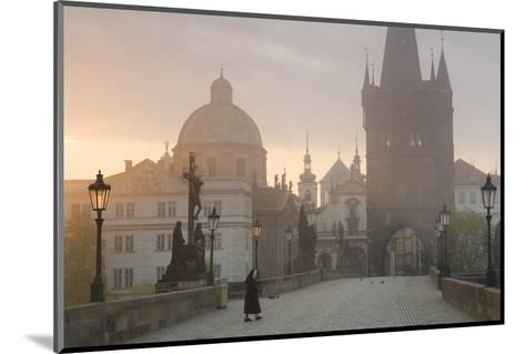 Charles Bridge at Dawn, Prague, Czech Republic-Peter Adams-Mounted Photographic Print