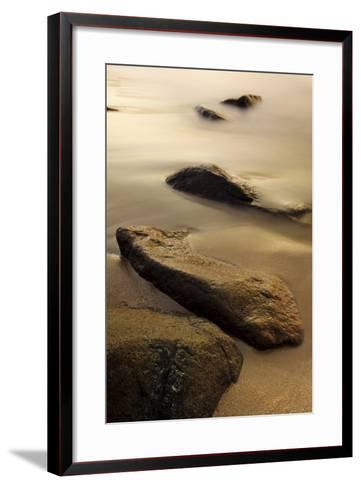 Dawn at Sand Beach in Maine's Acadia National Park-Jerry & Marcy Monkman-Framed Art Print