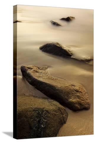 Dawn at Sand Beach in Maine's Acadia National Park-Jerry & Marcy Monkman-Stretched Canvas Print