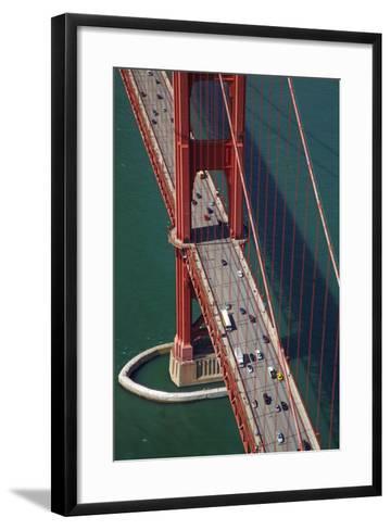California, San Francisco, Traffic on Golden Gate Bridge-David Wall-Framed Art Print
