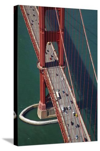 California, San Francisco, Traffic on Golden Gate Bridge-David Wall-Stretched Canvas Print