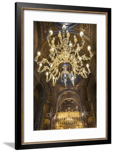 Romania, Bucharest, Romanian Patriarchal Cathedral, Interior-Walter Bibikow-Framed Art Print